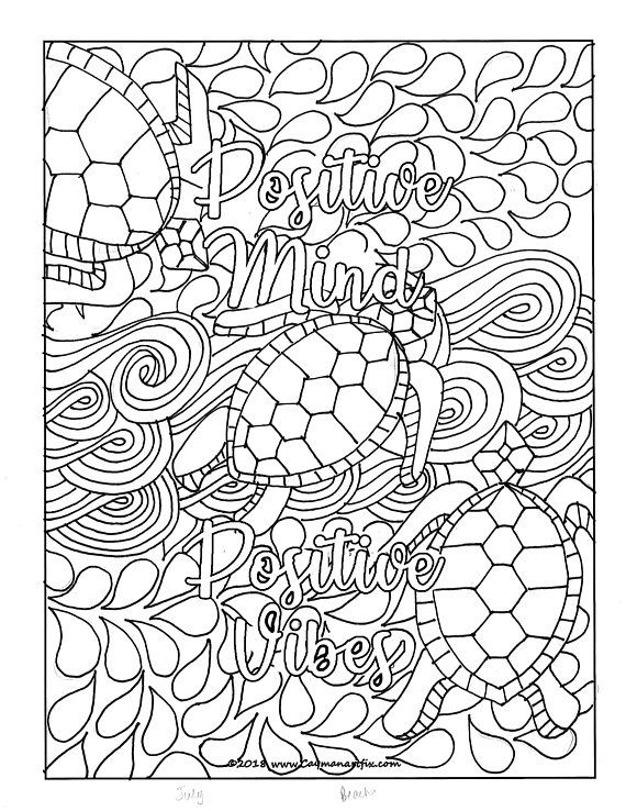 Whats Included You Will Receive A Pdf File Containing 1x High Res 8 5 X 11 Colourin Quote Coloring Pages Coloring Pages Inspirational Mindfulness Colouring