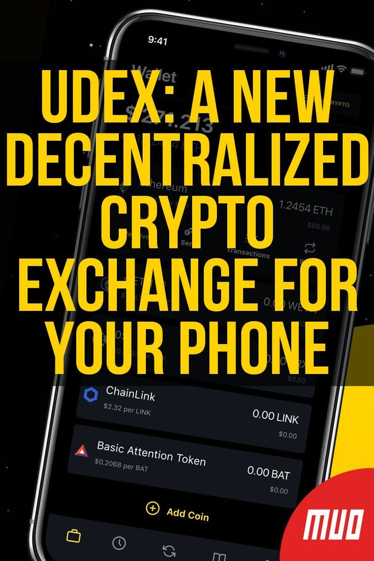 UDEX A New Decentralized Crypto Exchange for Your Phone