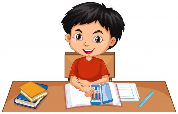 Un Nino Feliz Haciendo La Tarea En El Es Premium Vector Freepik Vector Libro Educacion Hombre Dibujos A Ninos Felices Las Emociones Para Ninos Ninos