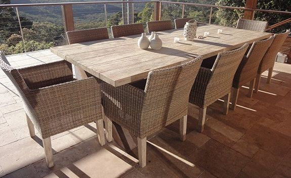 Manchester Teak Setting - Seats 10, Outdoor Furniture - Outdoor Dining Sets