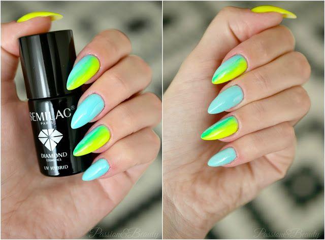 Passion&Beauty: Neonowe paznokcie hybrydowe z Semilac.