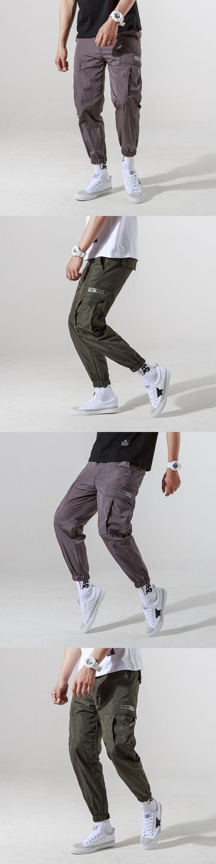 2017 summer mens joggers casual cargo pants fashion men Jogger Pants men hip hop army urban clothes pants green ,black trousers