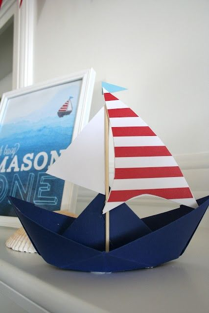 cute nautical theme centerpiece