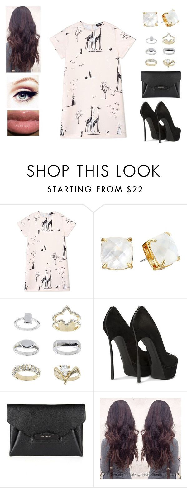"""""""I'm a giraffe ♥"""" by muppets-cookie-monster ❤ liked on Polyvore featuring Rochas, Kate Spade, Topshop and Givenchy"""