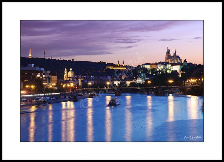 Fotoobraz - Vltava a Pražský hrad, Praha, Česko. Foto: Josef Fojtík - www.fotoobrazarna.cz - https://www.facebook.com/Fotoobrazarna.cz