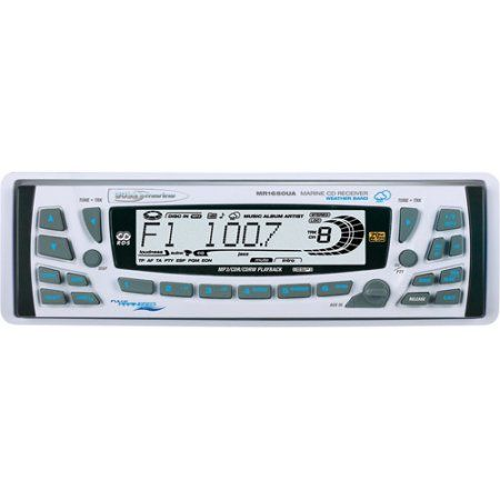 Boss MR1650UA Marine Single-DIN Receiver with Marine Weather Band, Multicolor