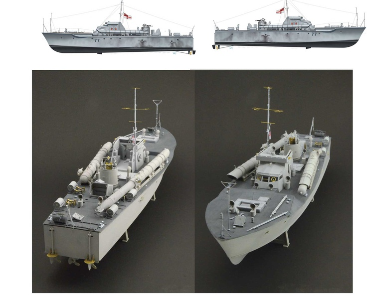British Royal Navy motor torpedo boat 1/35 scale kit ...