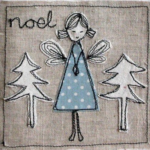 Christmas card: charcoal angle and trees