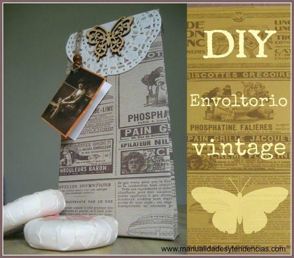 DIY Navidad: envoltorios de regalo vintage. Manualidades facilisimo.com