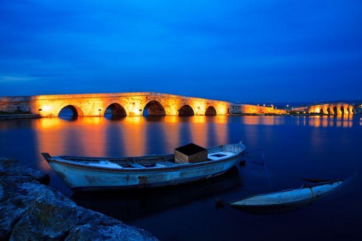 #istanbul #buyukcekmece #bridge #blue #color #orange #boat