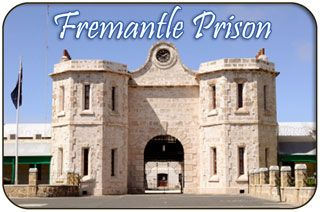'Fremantle Prison is a former Australian prison located in The Terrace, Fremantle, in Western Australia, approximately 200m east of the Fremantle Markets.   The 60,000 m² (15 acres) site includes the prison, gatehouse, perimeter walls, cottages, tunnels, and prisoner art. The formidable prison was built by convict labour in the 1850s, and transferred to the colonial government in 1886 for use as a Fremantle Gaol (fremantle jail) for locally-sentenced prisoners.
