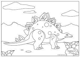 Afbeeldingsresultaat voor kleurplaten van een dinosaurus