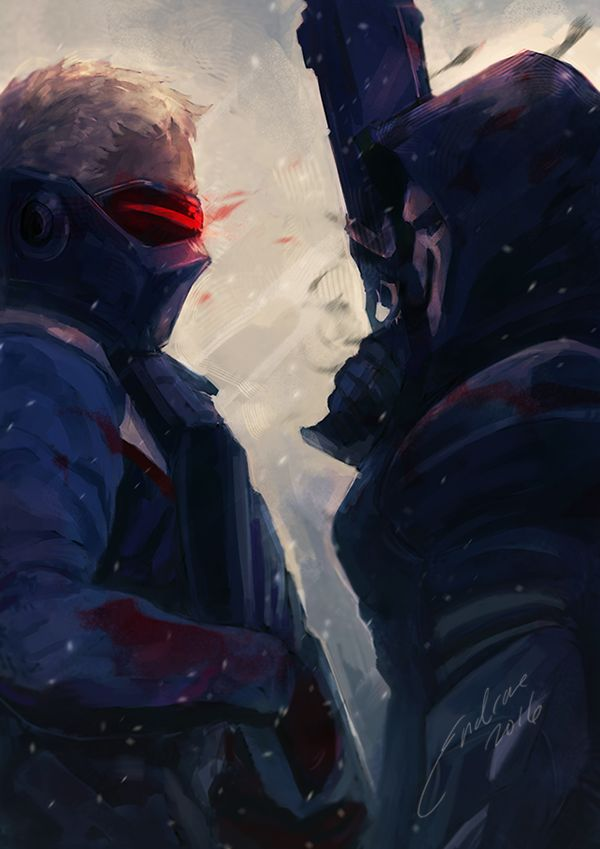 Familiar faces by endrae #Overwatch #Soldier76 #Reaper                                                                                                                                                     More