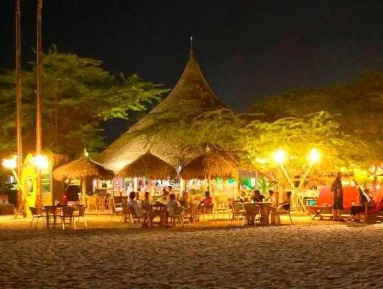 Moomba Beach restaurant @Michelle Conlon Beach, Aruba. Friendly service (Dutch wait staff). Funky/chill vibe, right on the beach!