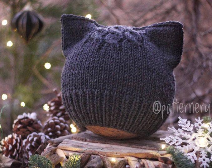 Einfache Kätzchen Ohren Beanie Für Kind, Teenager Oder Erwachsene. Original  Entworfen Katze Hut OOAK