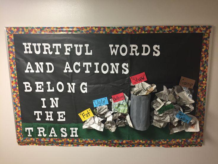 Antibullying bulletin board that i made the border is