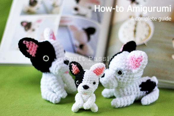 Howto Amigurumi.  General advice + a list of good books.  The pattern for these little French bulldogs is in 'Ami Ami Dogs', avail. through Amazon http://www.amazon.com/gp/product/0062025708/ref=as_li_qf_sp_asin_tl?ie=UTF8&tag=crafpass-20&linkCode=as2&camp=217145&creative=399349&creativeASIN=0062025708     #crochet