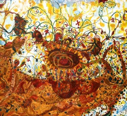 John Olsen Spring 1982 - 87 oil on canvas  Spring   Eva Breuer art dealer