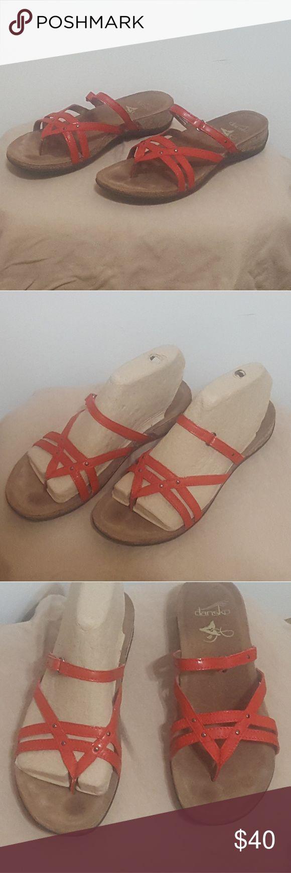 flat red sandal Flat red sandal by Dansko. Dansko never goes on sale! Rarely worn. Dansko Shoes Sandals