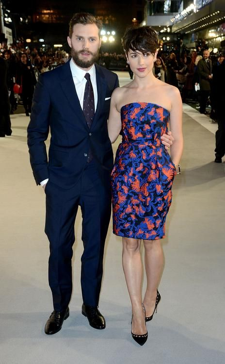 "Jamie Dornan's Wife Amelia Warner Steals the Spotlight at ""50 Shades of Grey"" Premieres"