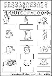 Autoditado para alfabetização com ge e gi