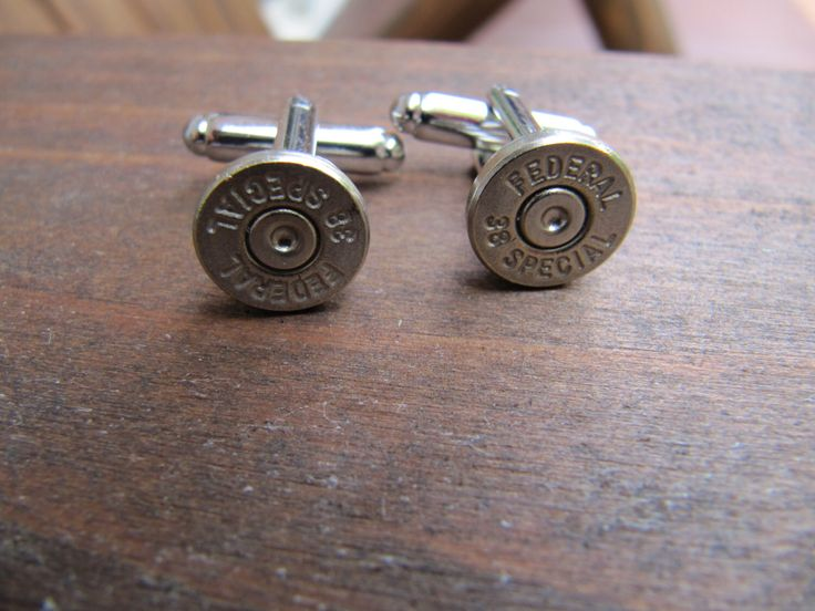 Bullet Cufflinks, 38 Special Bullet Cuff link, Groomsman Gift, Gifts for Him, Stocking Stuffer, Father of the Bride Gift, Groom Gift by JillsJewels4You on Etsy https://www.etsy.com/listing/157336144/bullet-cufflinks-38-special-bullet-cuff
