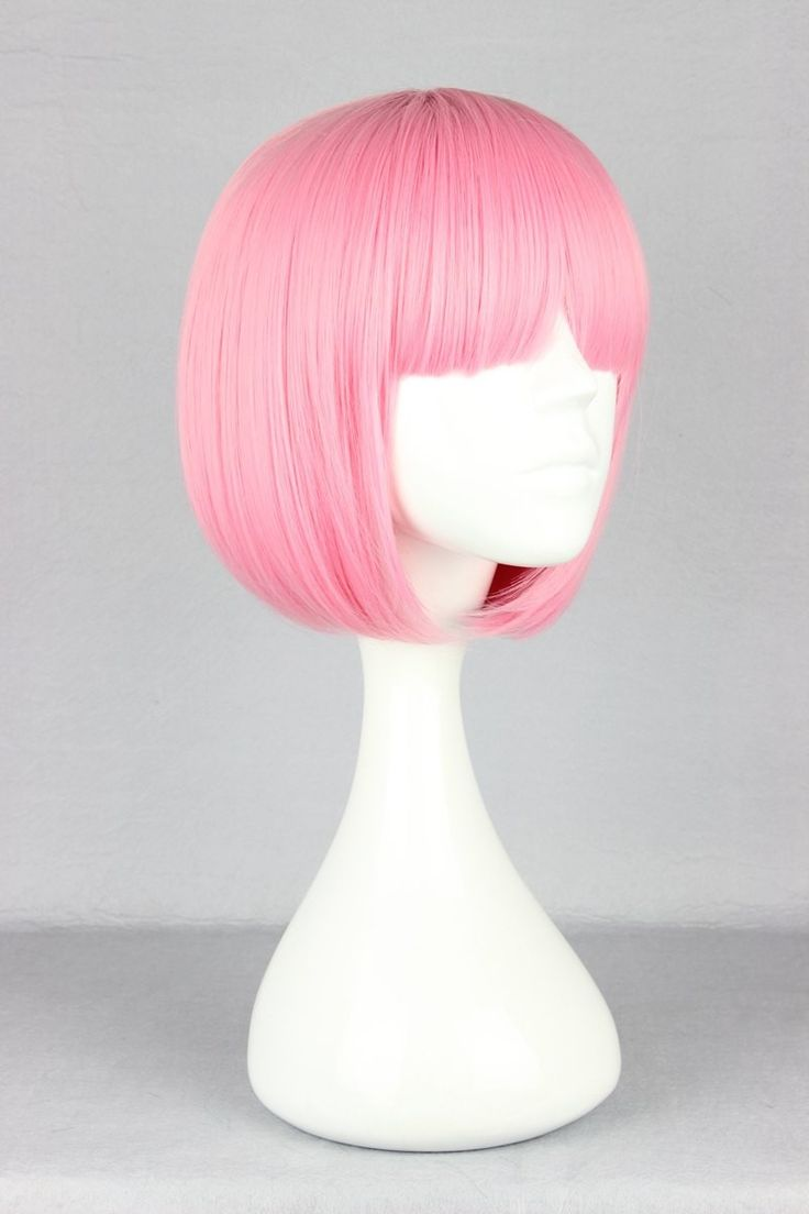 Pink Wig Synthetic Heat Resistant Short Afro Kinky Wavy Hair Lolita Wig Harajuku…