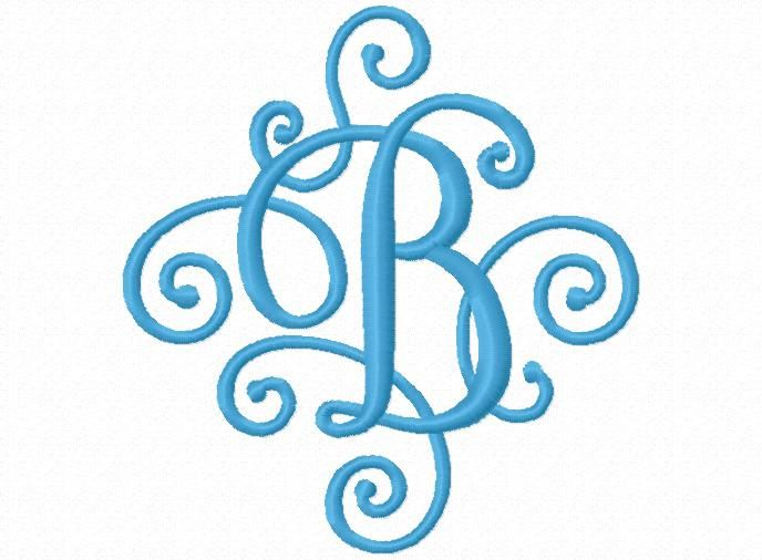 58 best embroidery fonts single letters images on With single letter monogram styles