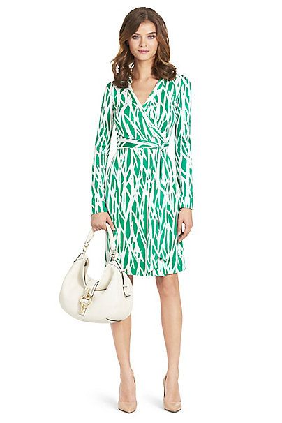 Limited Edition New Jeanne Two Silk Jersey Dress in Twiggs Medium by DVF