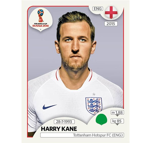 Panini 2018 Fifa World Cup Sticker Collection Harry Kane England World Cup Russia 2018 Harry Kane England England World Cup 2018