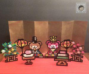 雛人形のアクセサリー3 橘&桜 アイロンビーズの図案 – セナパパの英語と知能の遊びBLOG