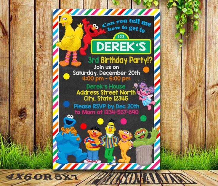 Sesame Street / Sesame Street invitation / Sesame Street Birthday invitation / Sesame Street Party / Sesame Street Printable / Sesame Street by MESSIBROW on Etsy https://www.etsy.com/listing/491727072/sesame-street-sesame-street-invitation