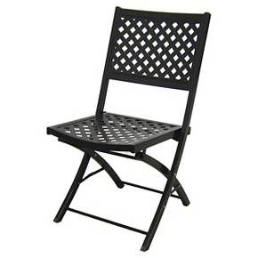 Captivating Woven Metal Folding Patio Chair   Threshold™