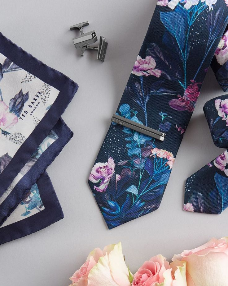 PERFECTLY MATCHED: Ted's printed accessories make great couples