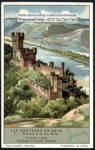 Sooneck (Sonneck) Castle Rhein Germany 1930s Card