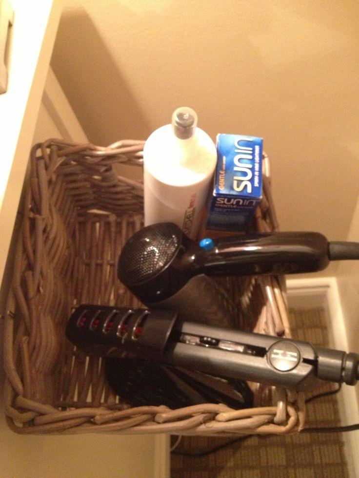 Emma Courtney: DIY Hair Dryer/Straightener Storage Solution