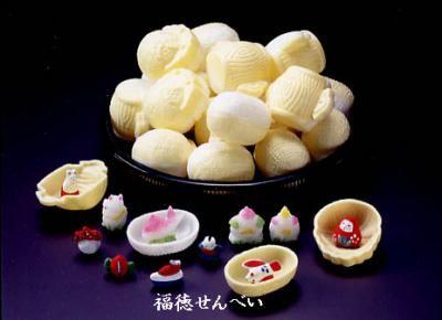 """Futtoku senbei"" Japanese cake made by Kanazawa Moroeya,for happy new year  福徳せんべい - 創業嘉永二年 金沢・落雁諸江屋ネットショップ"
