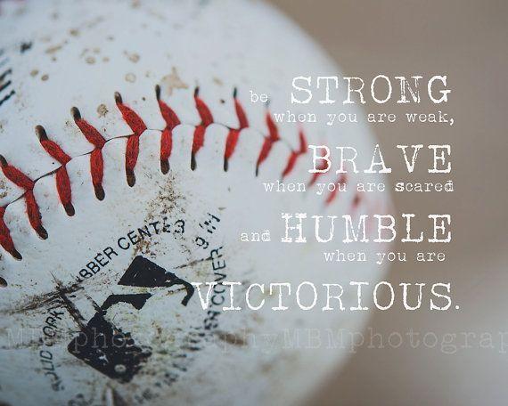 8 x 10 sterke & dappere honkbal Print van SportyPrintsbyMBM op Etsy