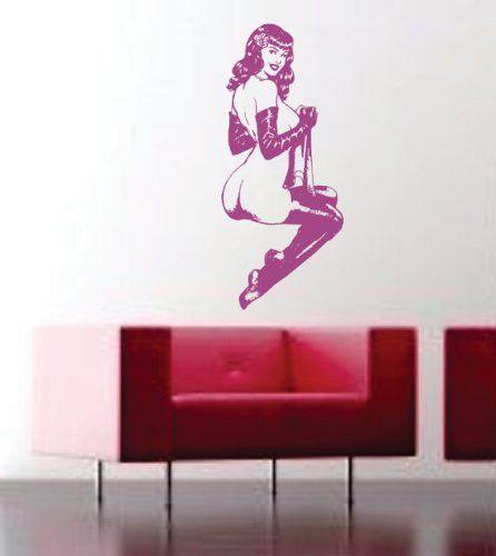 retro pin up wall vinyl decal sticker art graphic version 1
