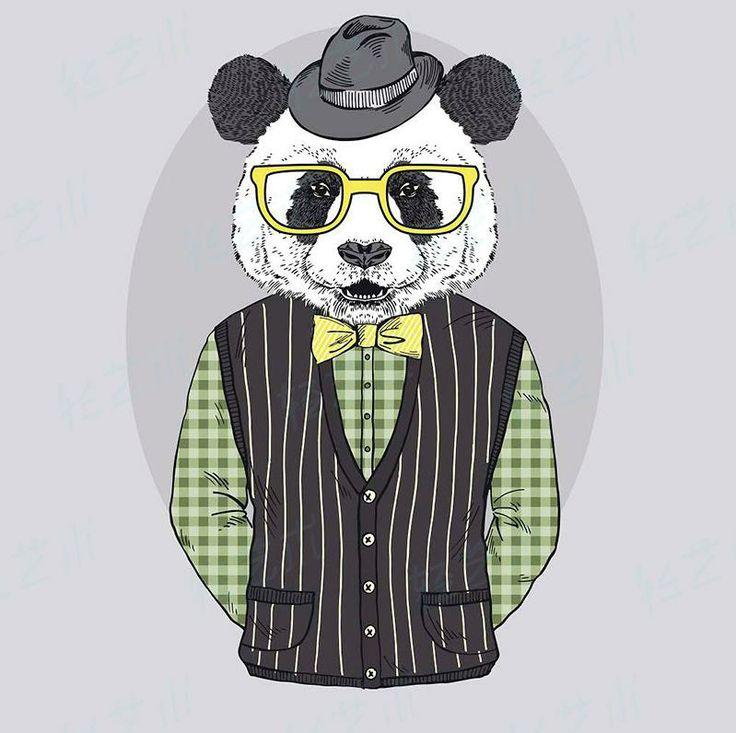 cool panda art print Cuadros de tela, Telas y Decoración