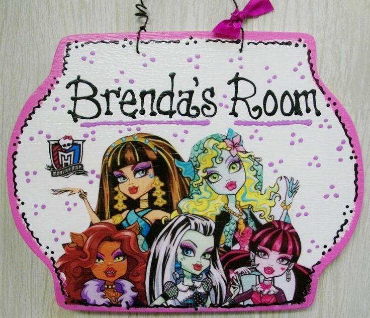 7x9 Personalized MONSTER HIGH Room Door SIGN Girl Plaque Kids Wall Disney  Decor