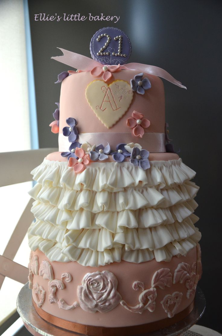 The 21 three-tier birthday cake