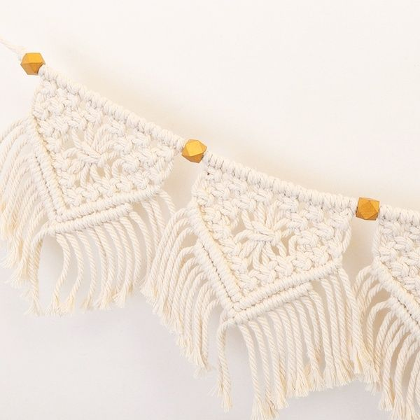 Macrame Fringed Woven Flags Bohemian Tassel Braided Small Banner Wall Hanging Decor Diy Tapestry Ornaments For Home Bedroom Wish In 2020 Diy Tapestry Hanging Wall Decor Hanging Decor