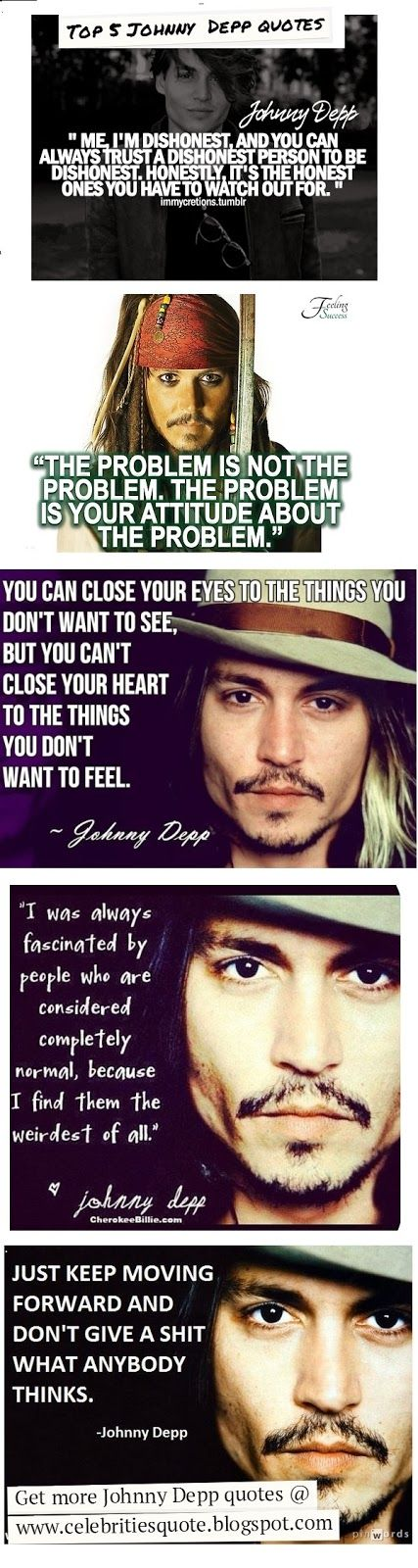 Top Five Johnny Depp Quotes.