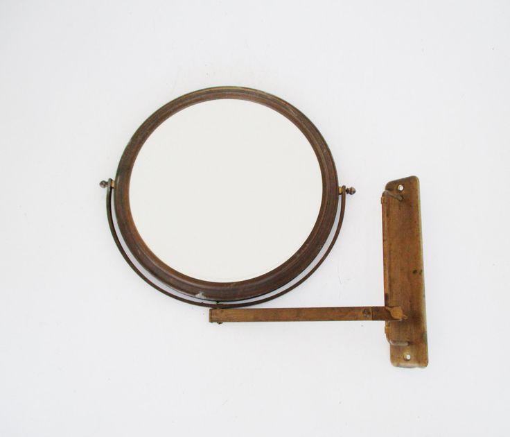 Antique Shaving Mirror Wall Mounted Adjustable Mirror Industrial Mirror Makeup Mirror Flip