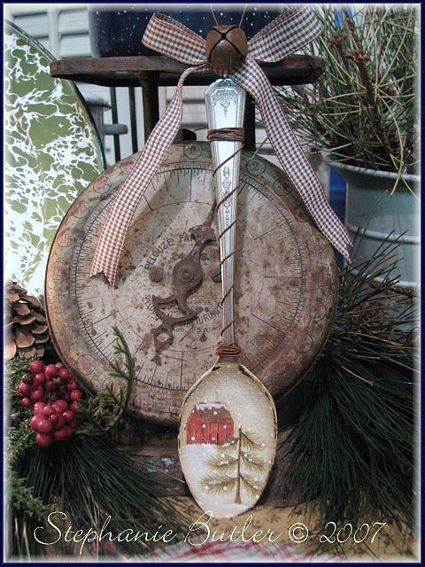 red house spoon ornament