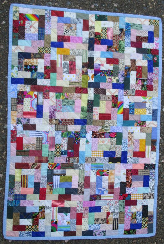 Quilt of Rectangles free postage to by HandMadeQuiltsbyJane