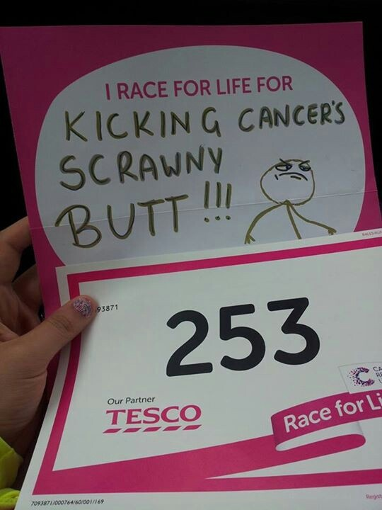 Race for life 2013... Kicking cancer's butt!