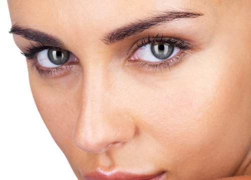 "The brow appears heavy, thickened and deep creases set in between the eyebrows. This ""heaviness"" of the brow can make you look perpetually tired, stern or even angry. The heavy brow also weighs down on your upper eyelids, causing your eyes to look smaller and tired."
