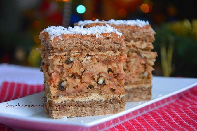 kruche babeczki: Ciasto Cappuccino z orzechami i jabłkami